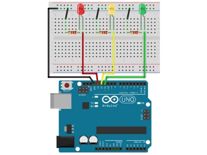 Proyecto semaforo con arduino para niños de primaria
