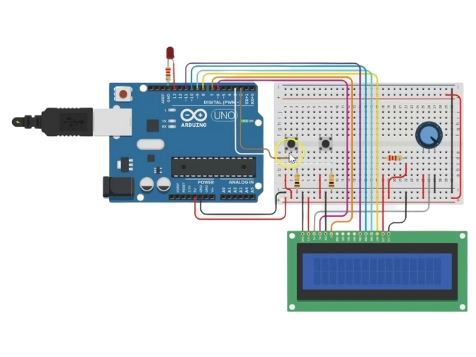 Proyecto cronometro con Arduino para niños de primaria