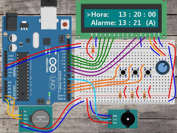 Proyecto despetador Arduino para secundaria